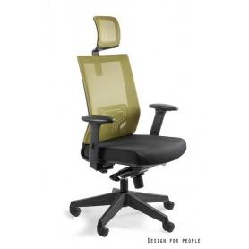 Fotel biurowy NEZ Oliwkowy