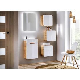 ARUBA SET 40 Zestaw mebli łazienkowych Biały połysk