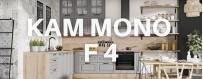 Meble kuchenne Kam Mono F 4. Prowansalski styl kuchni. Meble modułowe KAM.