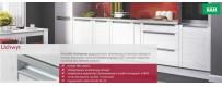 Szafki kuchenne OLIVIA SOFT z uchwytem listwowym zintegrowanym z frontem.