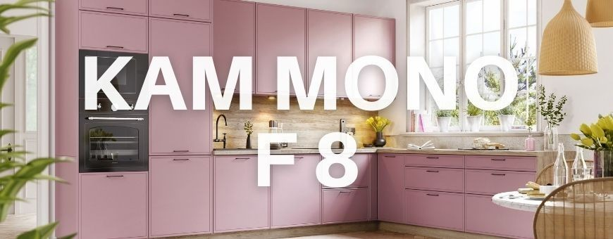 Meble kuchenne Kam Mono F 8 - NOWOŚĆ w ofercie KAM - Fronty z delikatną ramką.